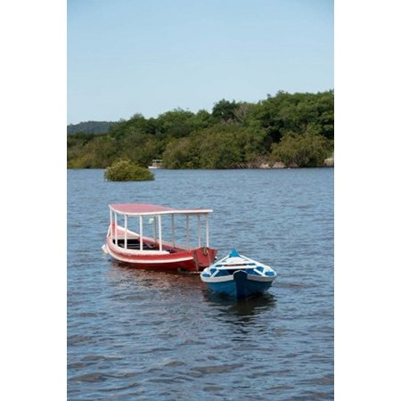 Fishing boats amazon brazil poster print by cindy miller for Walmart fishing boats