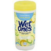 WET ONES Antibacterial Hands Wipes, Citrus 40 ea (Pack of 6)