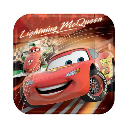 """Disney Cars 9"""" Luncheon Plates (8 Pack) - Party Supplies"""