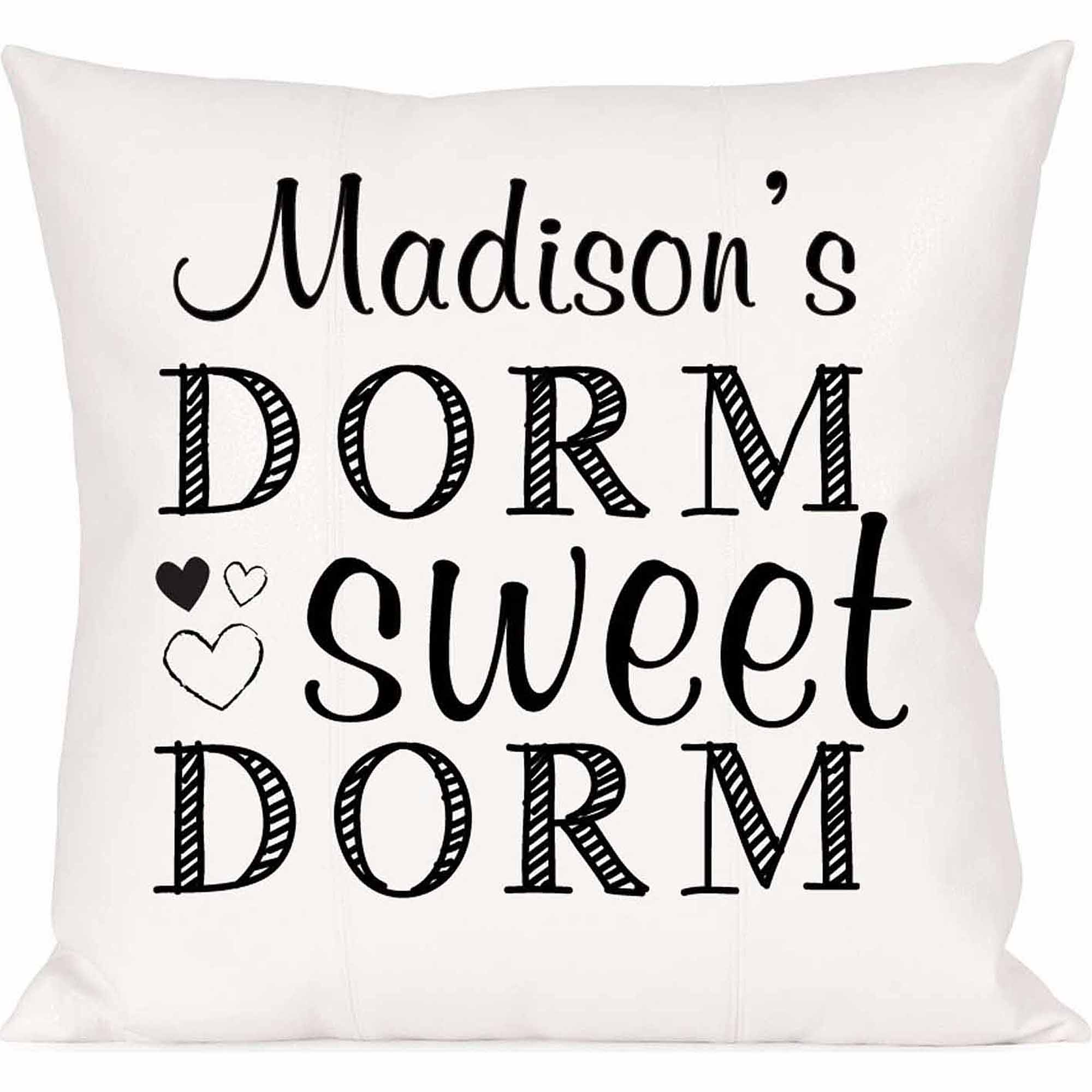 Personalized Dorm Sweet Dorm Pillow