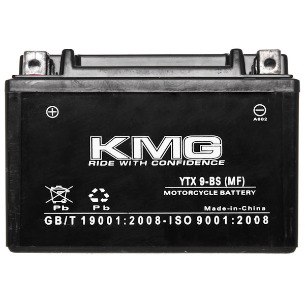 Honda 150 CH150 Elite 1987 YTX9-BS Sealed Maintenace Free Battery High Performance 12V SMF OEM Replacement Maintenance Free Powersport Motorcycle ATV Scooter Snowmobile KMG - image 2 de 3