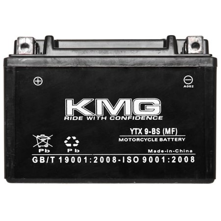 Hyosung 250 GV250 2009-2012 YTX9-BS Sealed Maintenace Free Battery High Performance 12V SMF OEM Replacement Maintenance Free Powersport Motorcycle ATV Scooter Snowmobile KMG - image 2 of 3