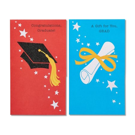 American Greetings Graduation 6-Count Cap and Diploma Cards (Graduation Name Cards)