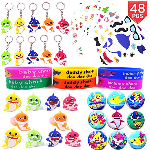 Baby Shark Party Favors for Kids Shark Party Supplies for Birthday Baby Shark Goodie Bags Favors Baby Shark Pinata Filler Carnival Prizes Treasure Box Prizes for Classroom Boys Girls 50 Pcs