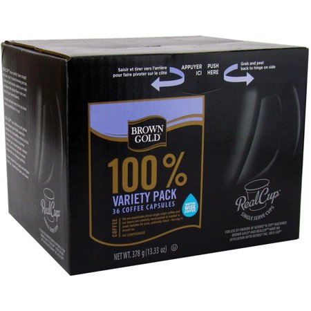 Brown Gold Coffee Variety Pack Realcup Portion For Keurig K Cup Brewers