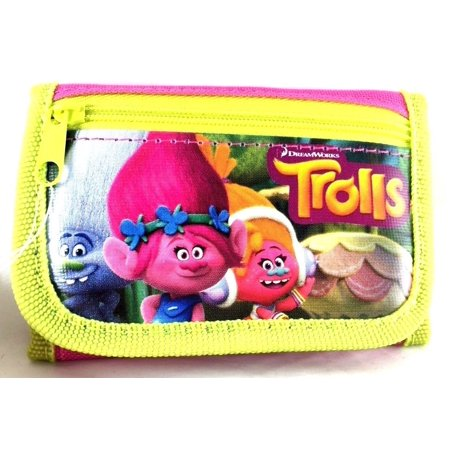 Party Favors Dreamworks Trolls 2 Card pockets Trifold Wallet-Green
