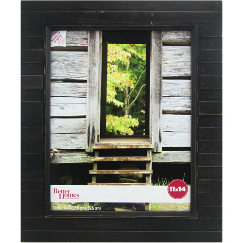 Better Homes and Gardens Timbermound 11x14 Distressed Black Picture Frame by Uniek