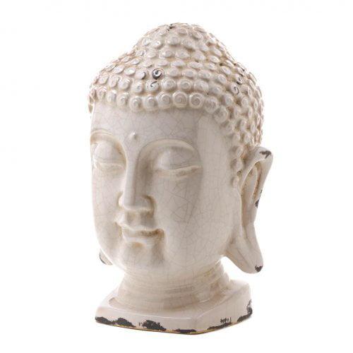 Koehler Home Decorative Ceramic Buddha Head Figurine Cent...