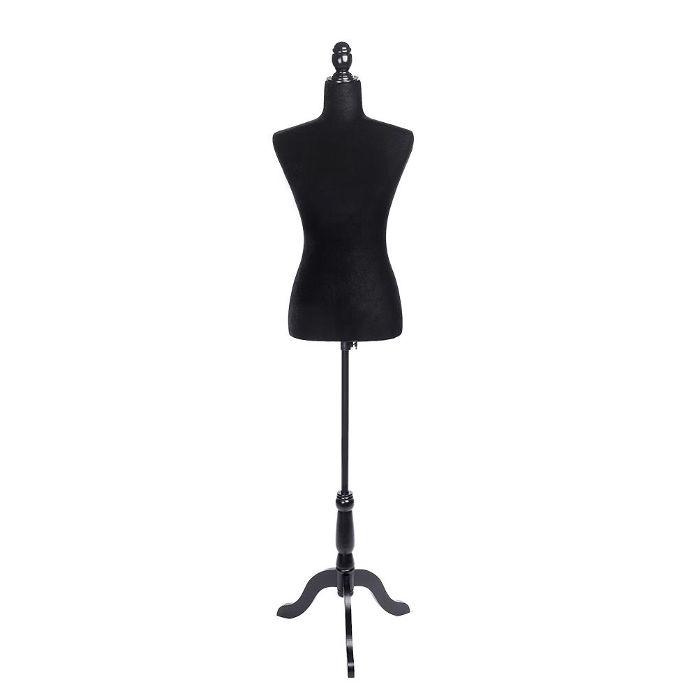 HAIPENG Male Mannequin Busts Torso Body Armless with Wood Stand Clothing Store Realistic Display Adjustable Height Color : Black 4 Colors