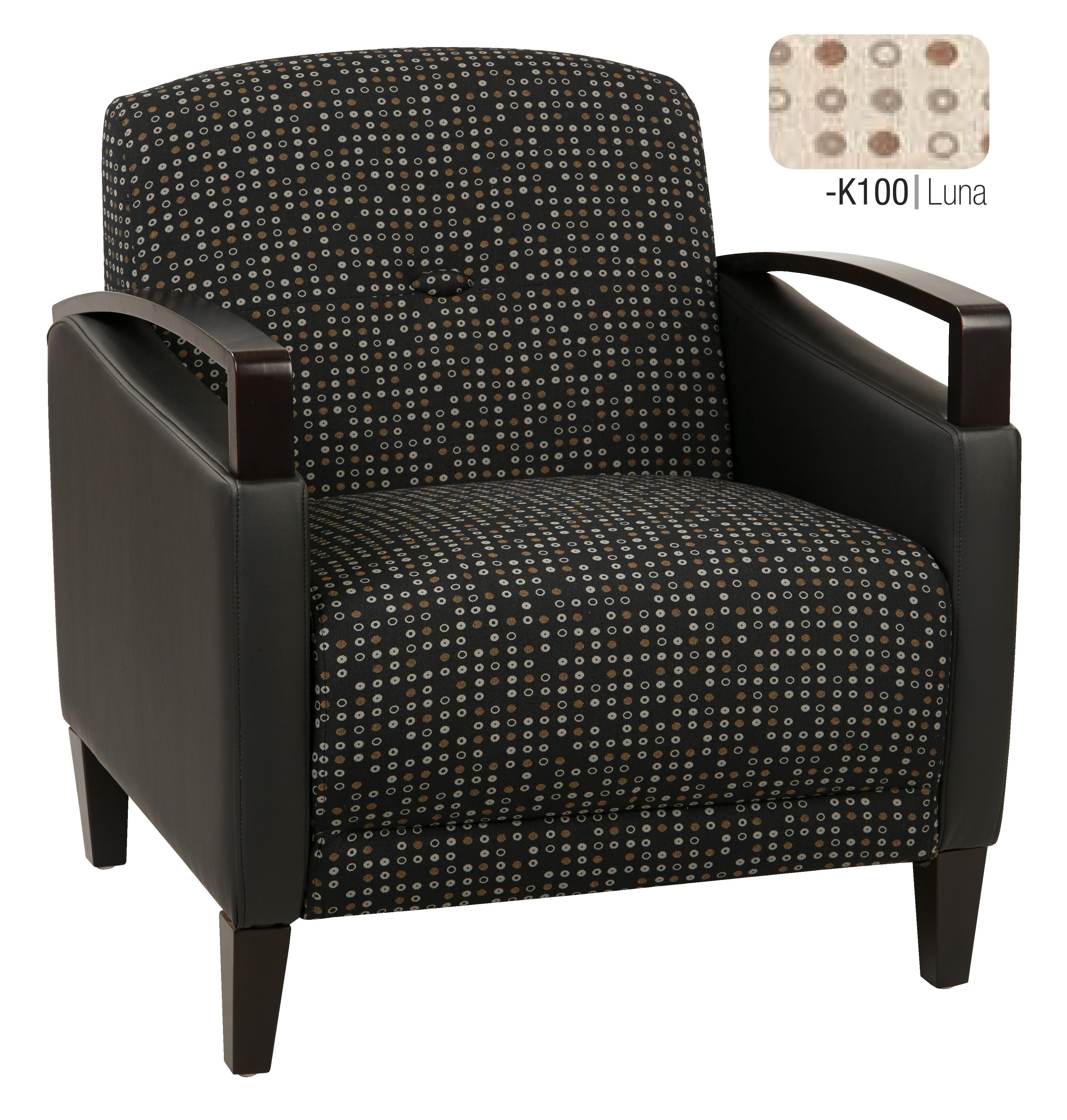 Main Street 2-Tone  Fabric Chair-Color:Luna & Stratus