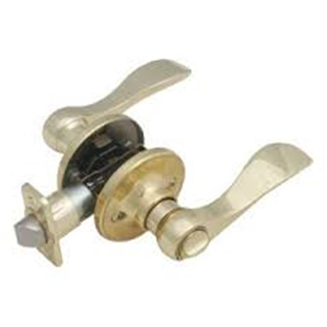 Springdale 2-Way Latch Privacy Door Handle, Adjustable Backset, Polished Brass Finish - image 1 of 1