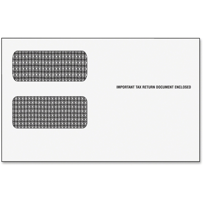 """Tops Business Forms TOP2222ES Double Window Tax Form Envelopes, For 1099R-Miscellaneous Forms, 9"""""""" x 5-5/8"""""""", 24 Per Pack"""