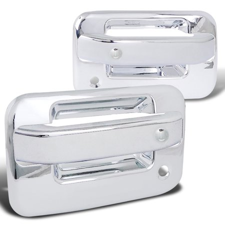 - Spec-D Tuning 2004-2012 Ford F150 2Dr Abs Door Handle Cover W/ 2 Key Holes Chrome 2004 2005 2006 2007 2008 2009 2010 2011 2012