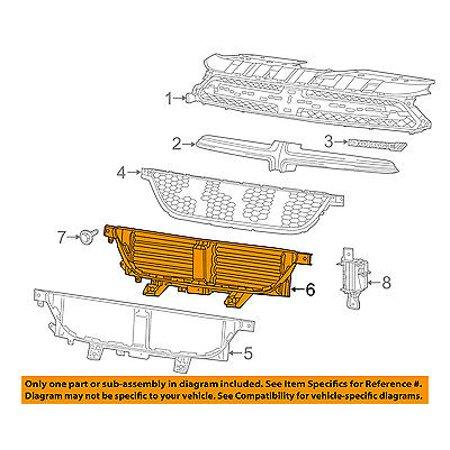 Dodge CHRYSLER OEM 2016 Dart Front Bumper-Grille Shutter Assembly