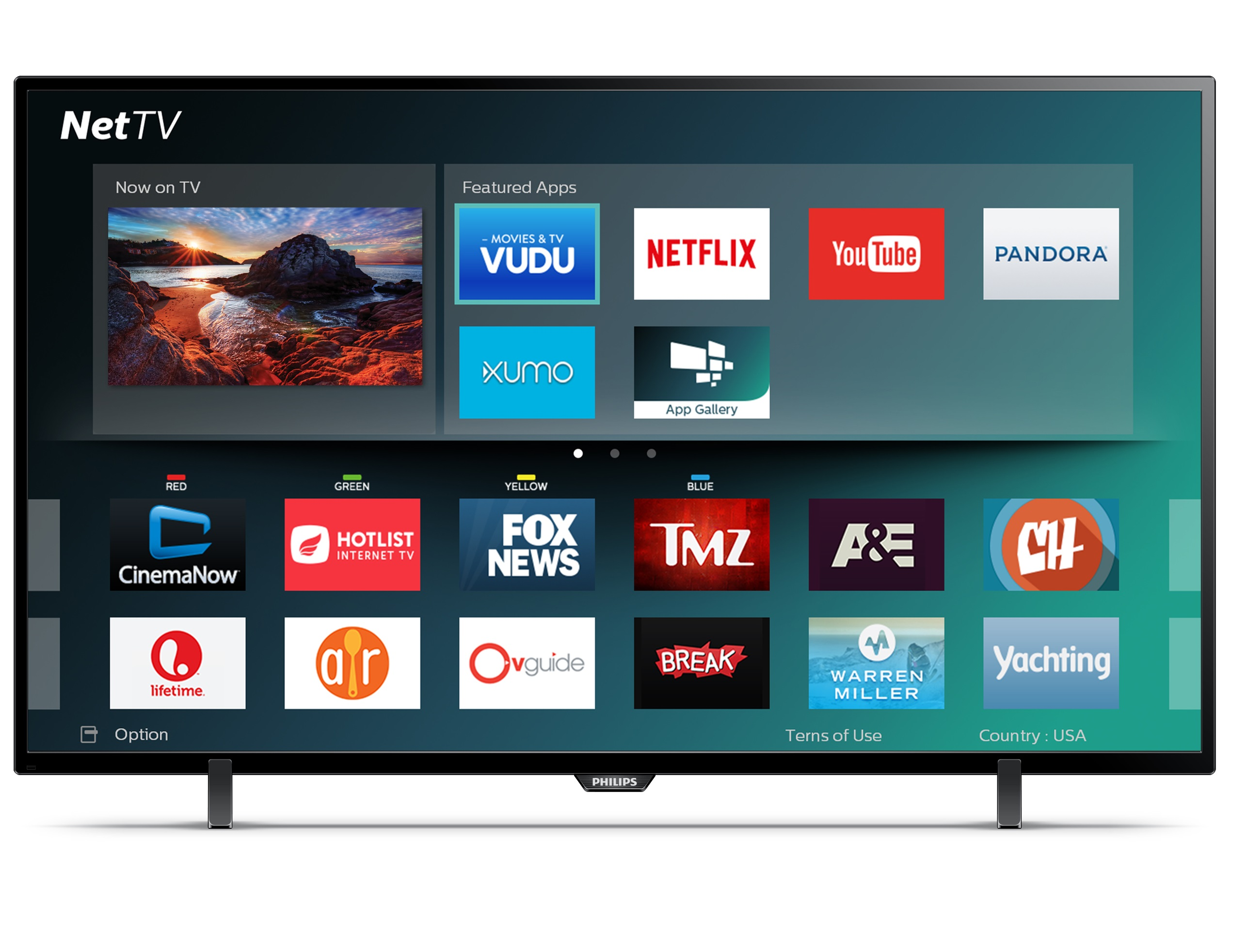 "Philips 43PFL4902/F7 43"" 1080p 2K Smart LED HDTV"