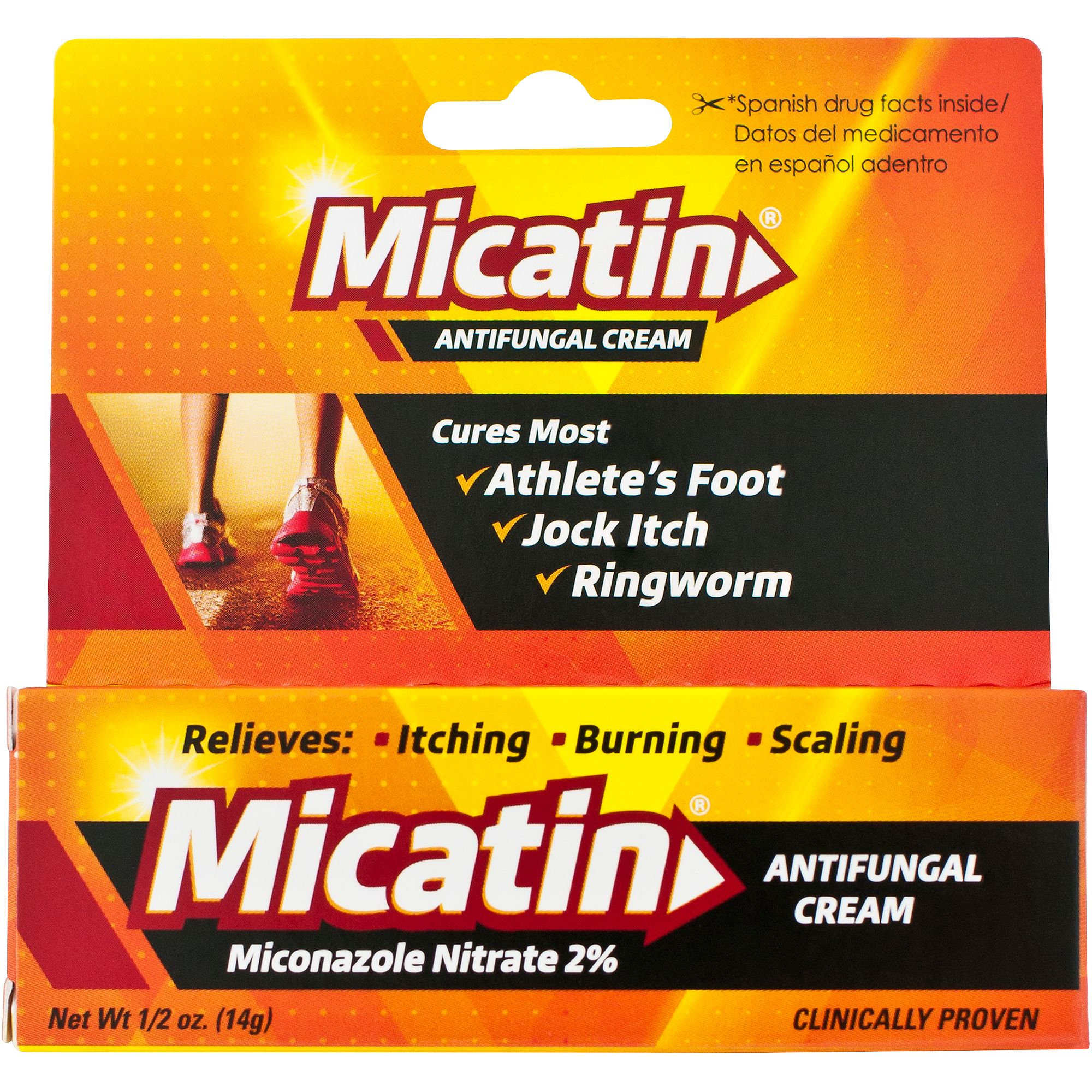 Micatin Athlete's Foot, Jock Itch, and Ringworm Antifungal Cream Relief - 0.5 oz