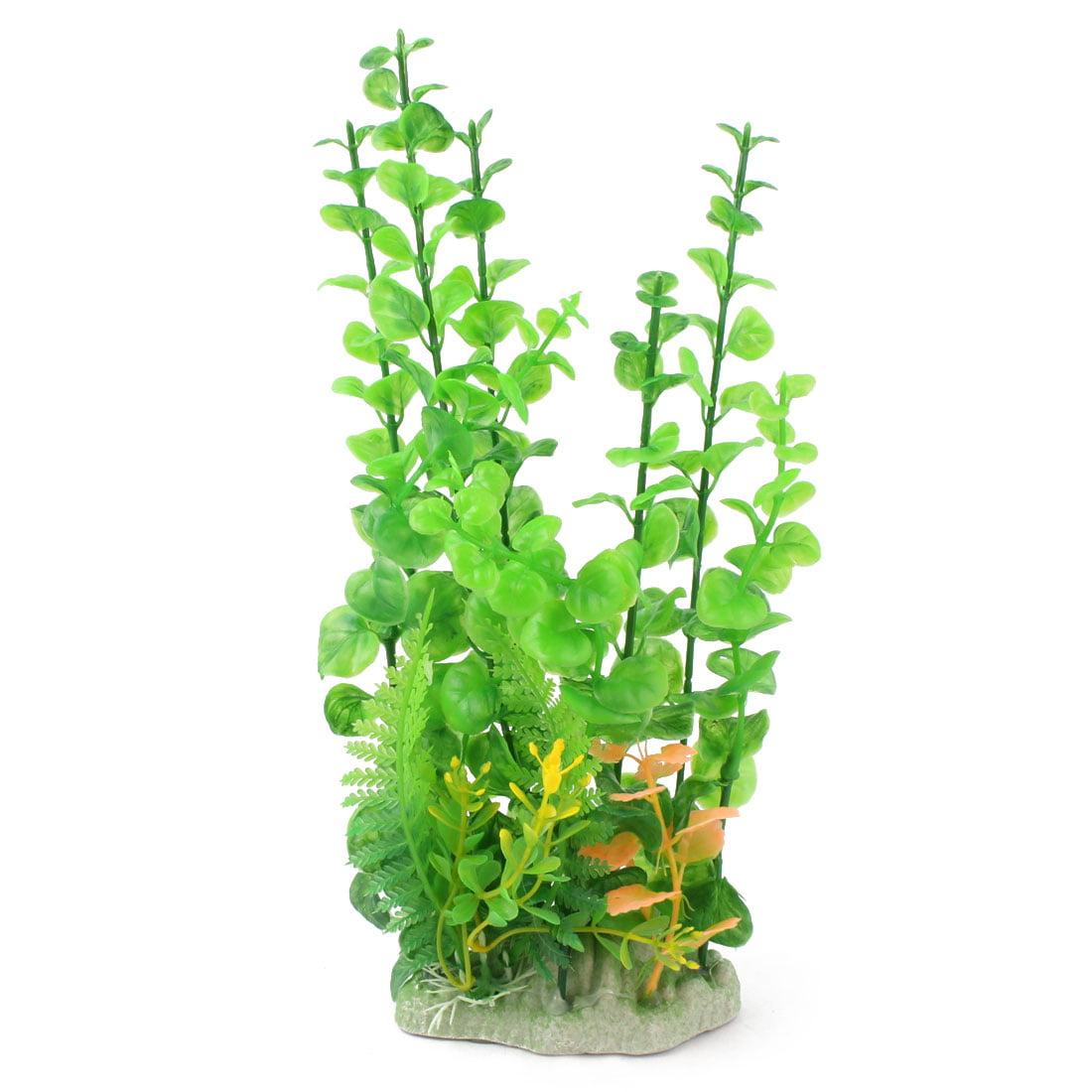 Aquarium Fish Tank Plastic Simulation Water Plant Grass Ornament Green Yellow