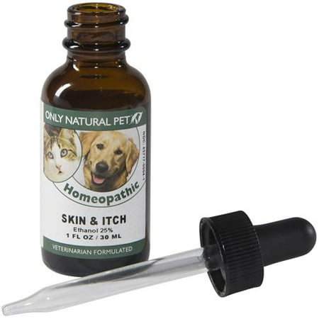 Skin & Itch Homeopathic Remedy, Safe, effective remedy to provide relief for skin irritations such and itching, scratching, and hot spots due to.., By Only Natural Pet Homeopathic Remedies Pets