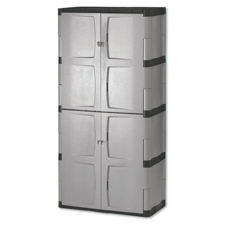 cabinets for storage. rubbermaid double-door storage cabinet - base/top, 36w x 18d 72h cabinets for n