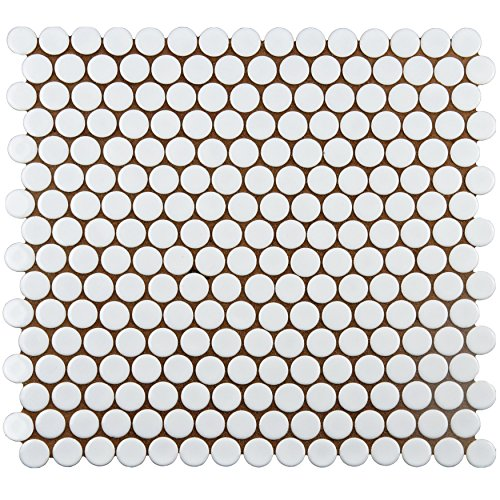 Somertile FKOMPR11 Penny Porcelain Floor and Wall Tile, 1...