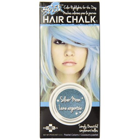 Hair Chalk, Silver Moon, The chalk slides on dry and instantly adds just the right touch of color. By Splat ()