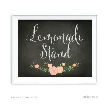 Lemonade Chalkboard & Floral Roses Wedding Party Signs (Lemonade Sign Ideas)