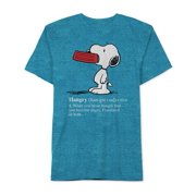 Peanuts Mens Hangry Snoopy Graphic T-Shirt by