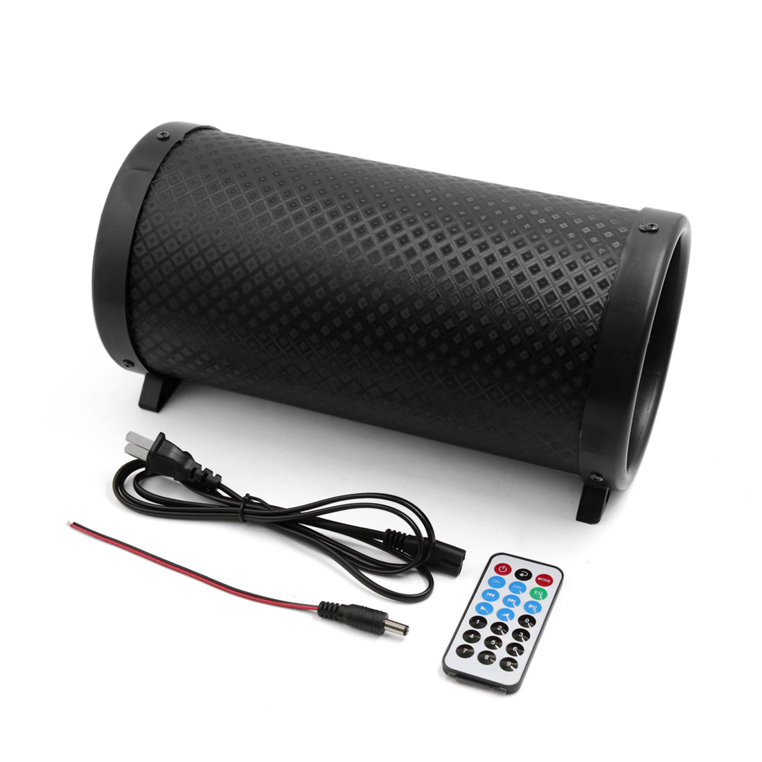 """Black 5"""" Cylinder Shaped PVC Car Vehicle Motorcycle Stereo Audio Bass Subwoofer"""