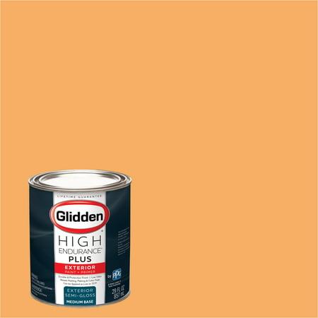 Glidden High Endurance Plus Exterior Paint And Primer Juicy Cantaloupe 02yy 55