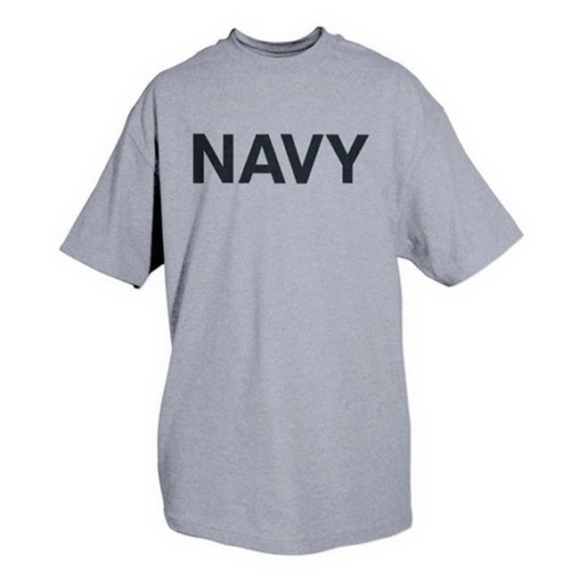 Fox Outdoor 64-57 L Navy One-Sided Imprinted T-Shirt, Grey - Large - image 1 of 1