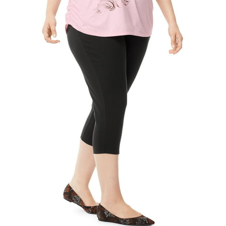 Women's Plus-Size Stretch Jersey Capri Legging - Plus Size Capes