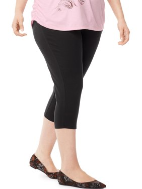 175576f1e8eef5 Product Image Women's Plus-Size Stretch Jersey Capri Legging