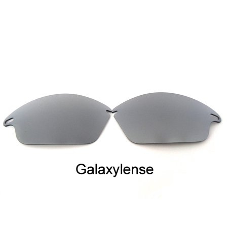 Galaxy Replacement Lenses For-Oakley Fast Jacket Silver Polarized 100%UVAB - Silver Jacket