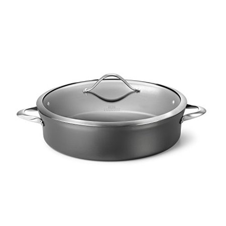 Calphalon Contemporary Hard-Anodized Aluminum Nonstick Cookware, Sauteuse Pan, 7-quart, (Sauteuse Pan)