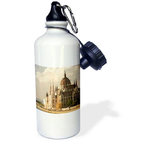 Hungarian Water - 3dRose Parliament Buildings, Danube, Budapest Hungary - EU13 SWS0051 - Stuart Westmorland, Sports Water Bottle, 21oz