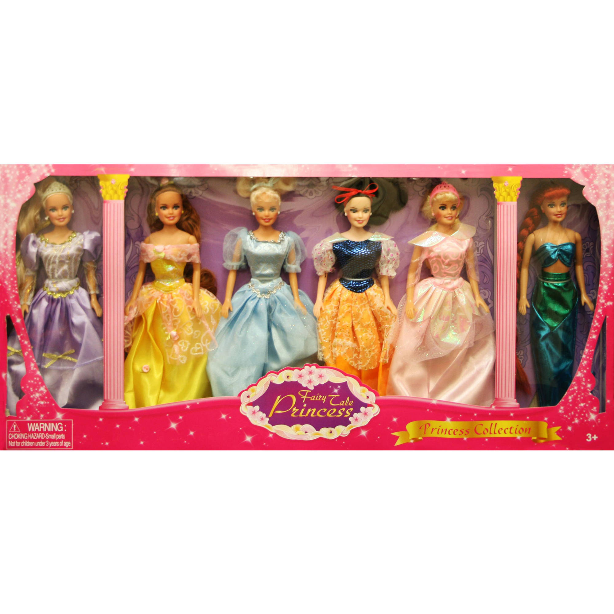 Princess Gift Set Doll, 6-Pack, 11.5""