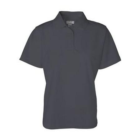 5097 ladies wicking mesh sport shirt royal - Ladies Wicking Mesh Short