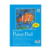 "Strathmore 100 Series Paint Pad, Kids Watercolor Pad, 9"" x 12"", 20 Sheets"