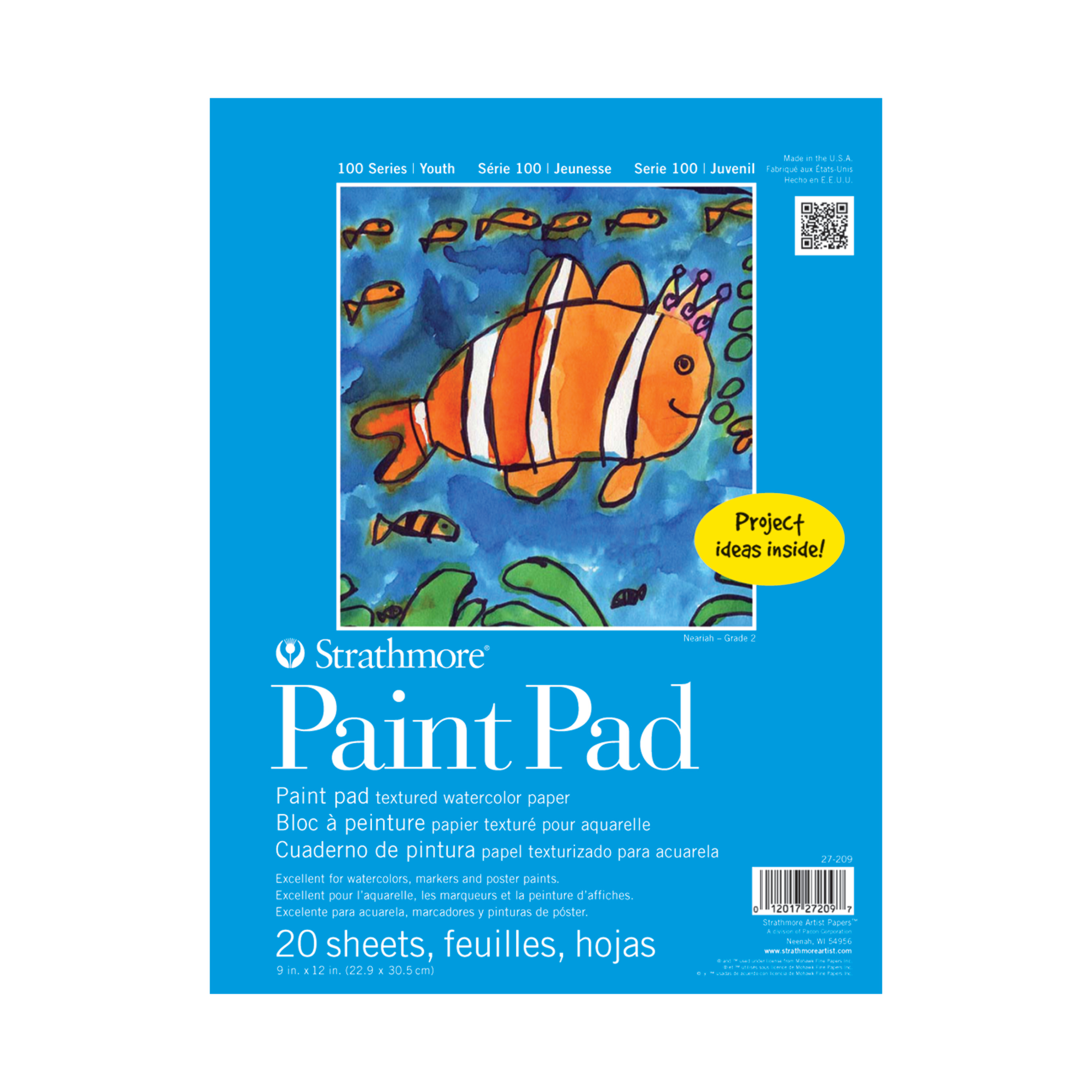 "Strathmore 9"" x 12"" Tape Bound Paint Pad, 1 Each"
