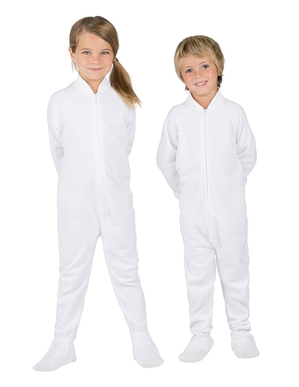 0469861f779d Footed Pajamas - Arctic White Toddler Fleece Onesie - Walmart.com