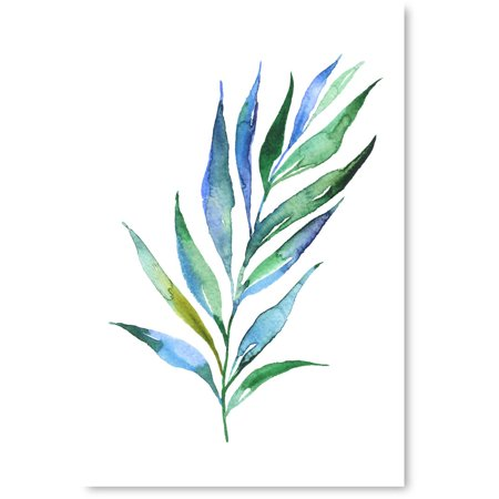 Halloween Poster Ideas (Awkward Styles Blue Leaves Poster Art Living Dining Room Wall Decor Inspirational Poster Prints for Office Foliage Decor Blue Grass Inspirational Vinyl Art Beautiful Nature Art Vintage Decor)