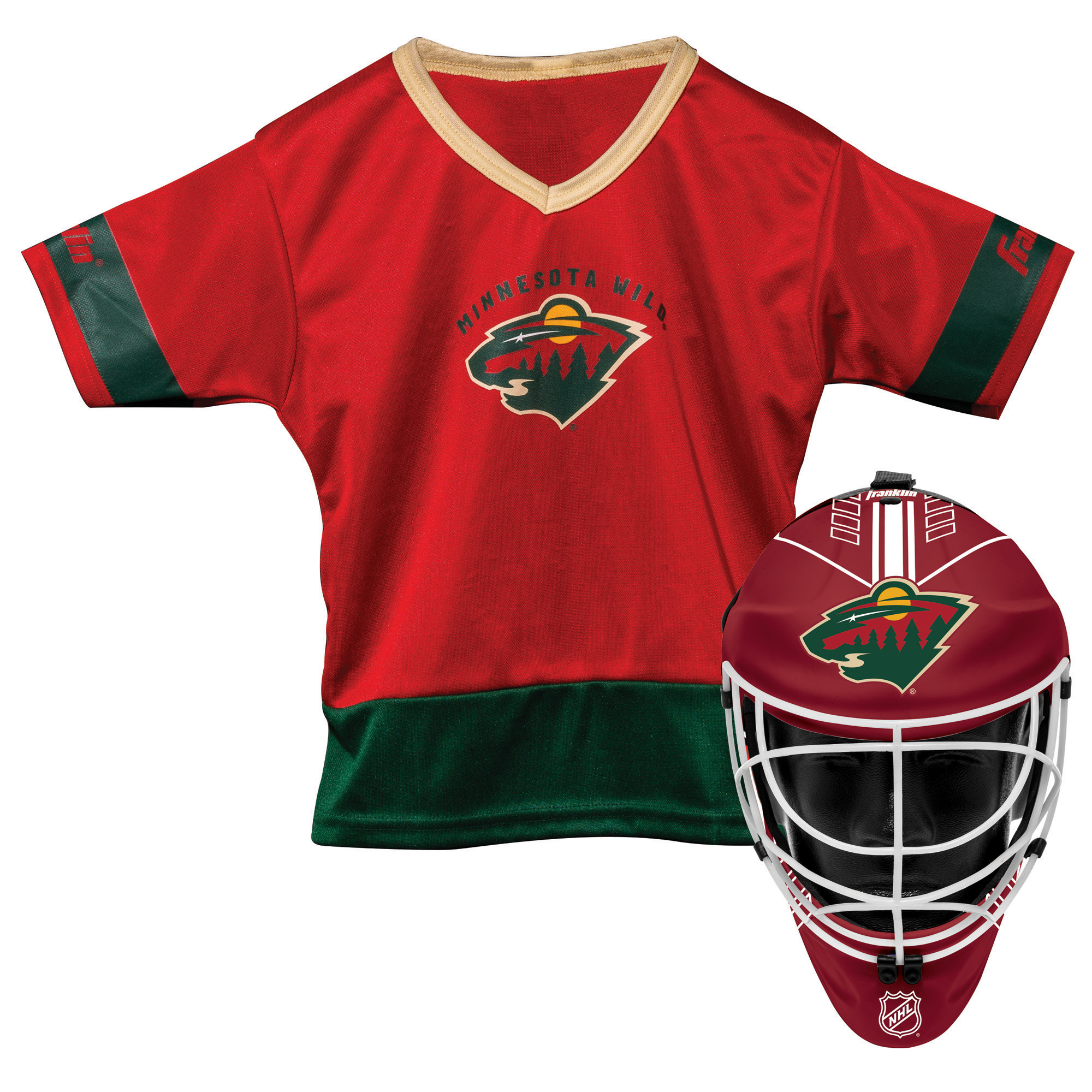 Franklin Sports NHL Minnesota Wild Youth Team Uniform Set