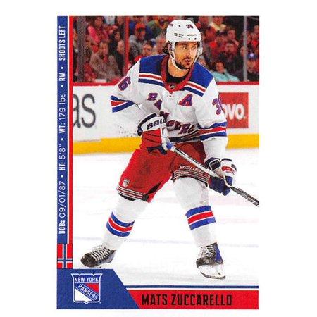 2018-19 Panini NHL Stickers #167 Mats Zuccarello New York Rangers Hockey Card