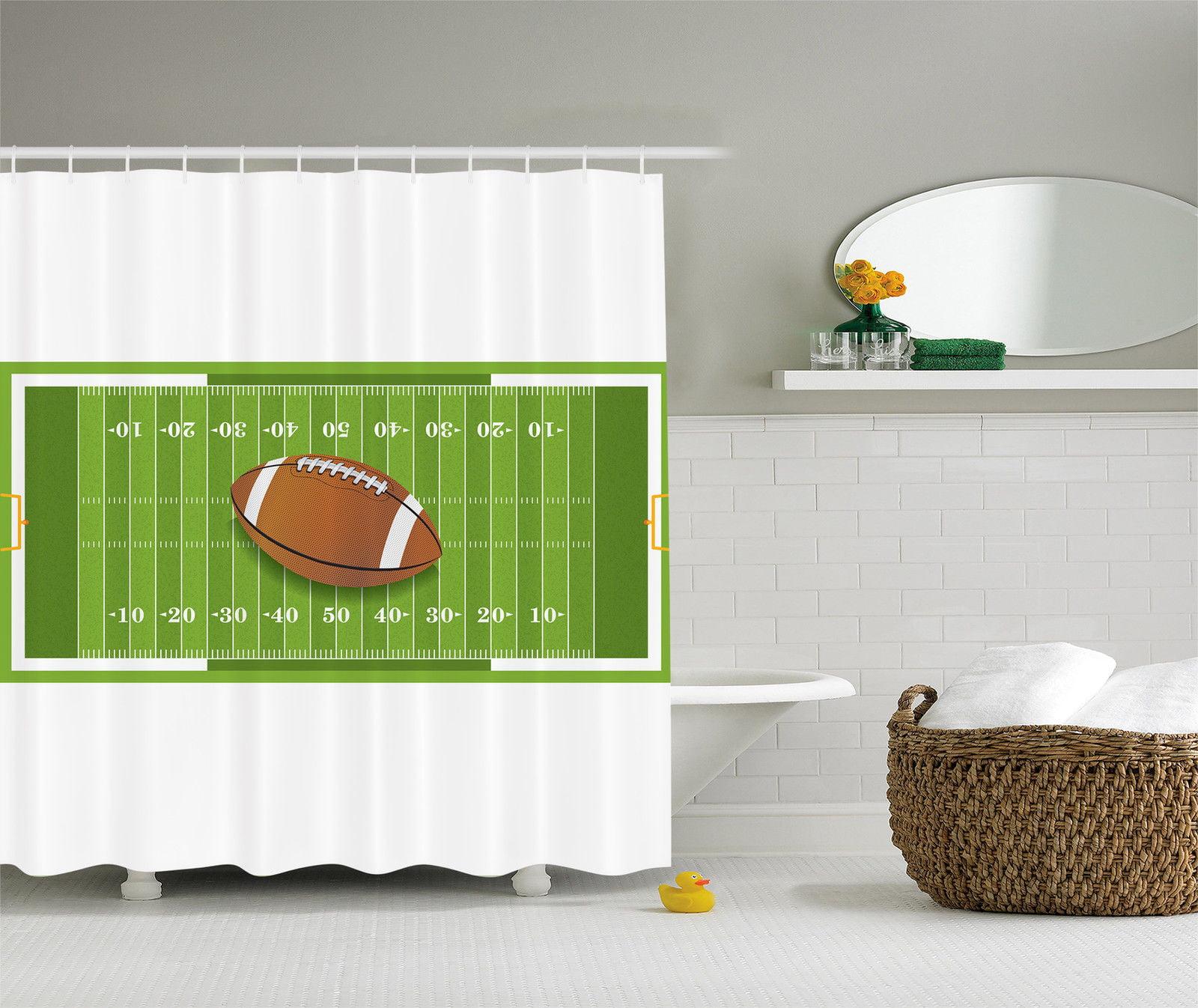 American Football Sports Theme Fan Decor Hobby Teen Girl Boy Kids Shower Curtain Walmart Com Walmart Com