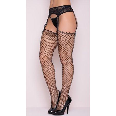 Fish Net Stocking (One Size Women - Unbanded Diamond Net Thigh High)