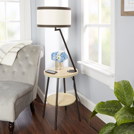 Silverwood Aiden Side Table Floor Lamp With Usb Port Walmart Com