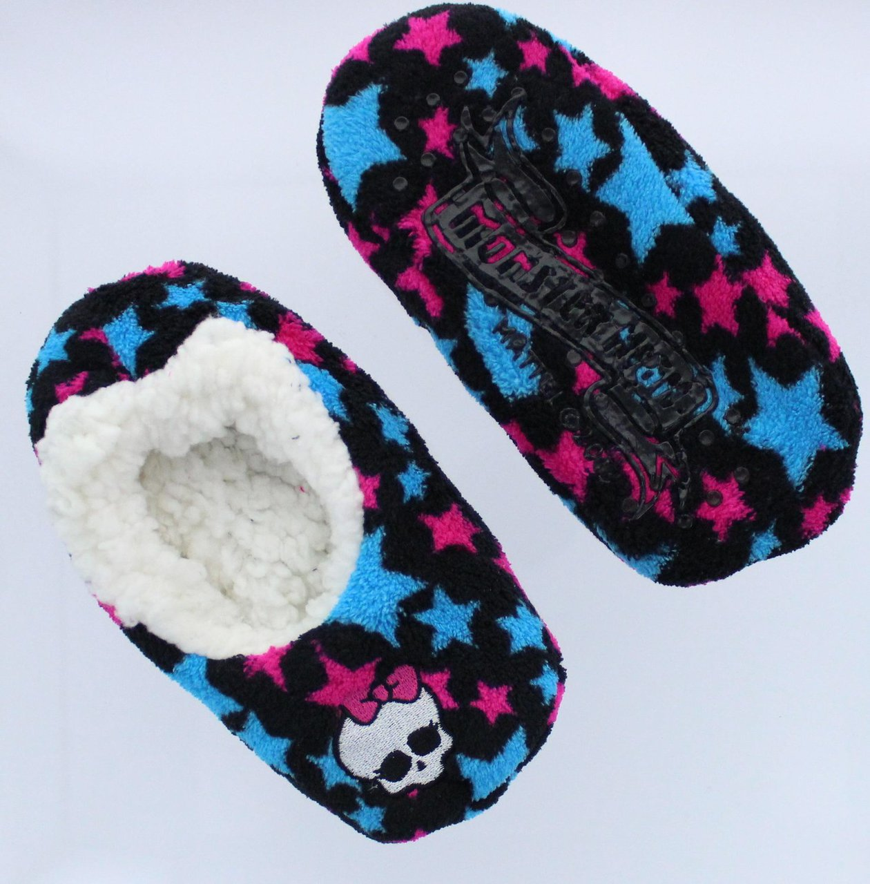 Monster High Girls Slipper Socks Shoe Size 8-13