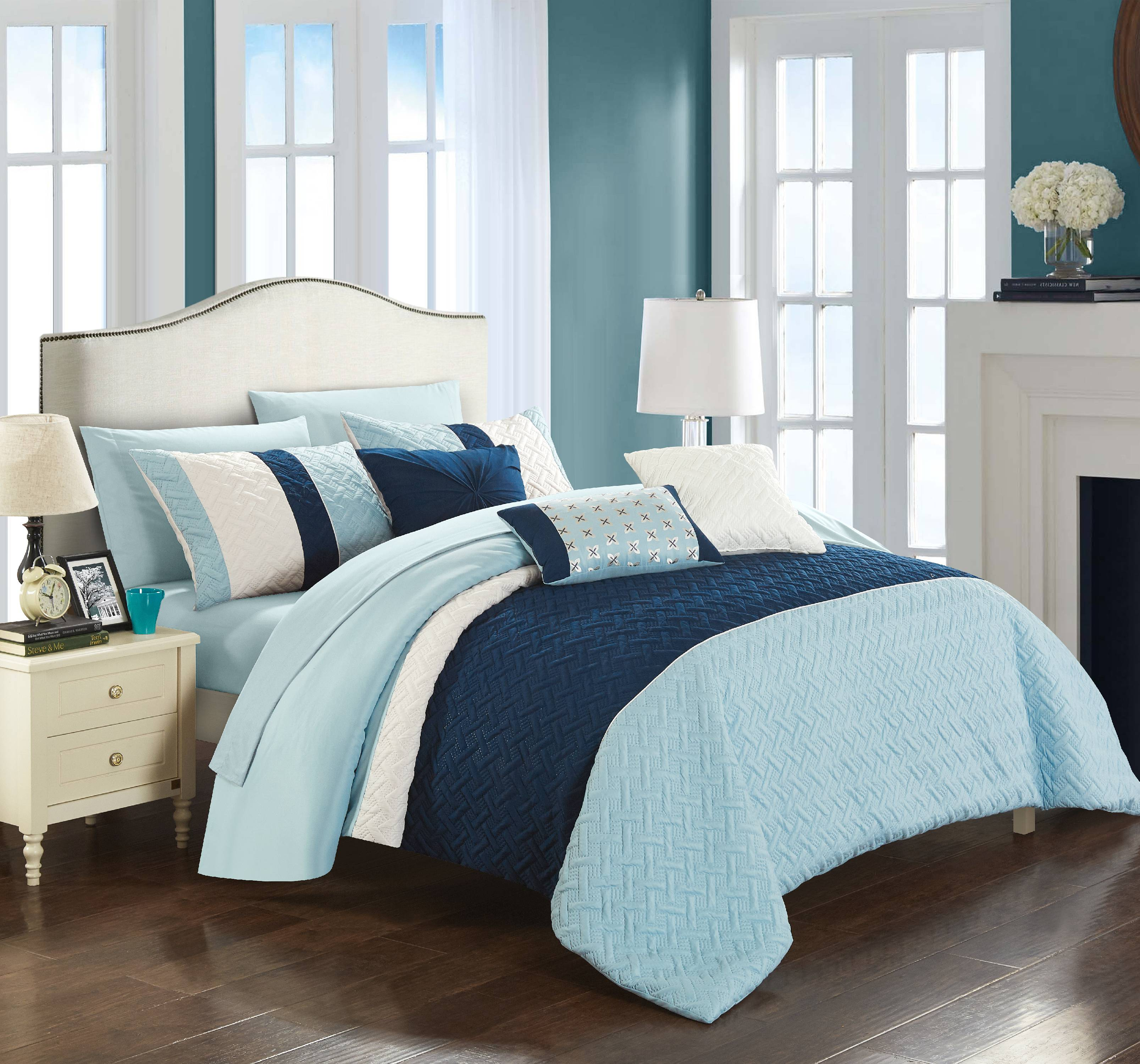 Chic Home Arza 10 Piece Comforter Set, Bed in a Bag Bedding