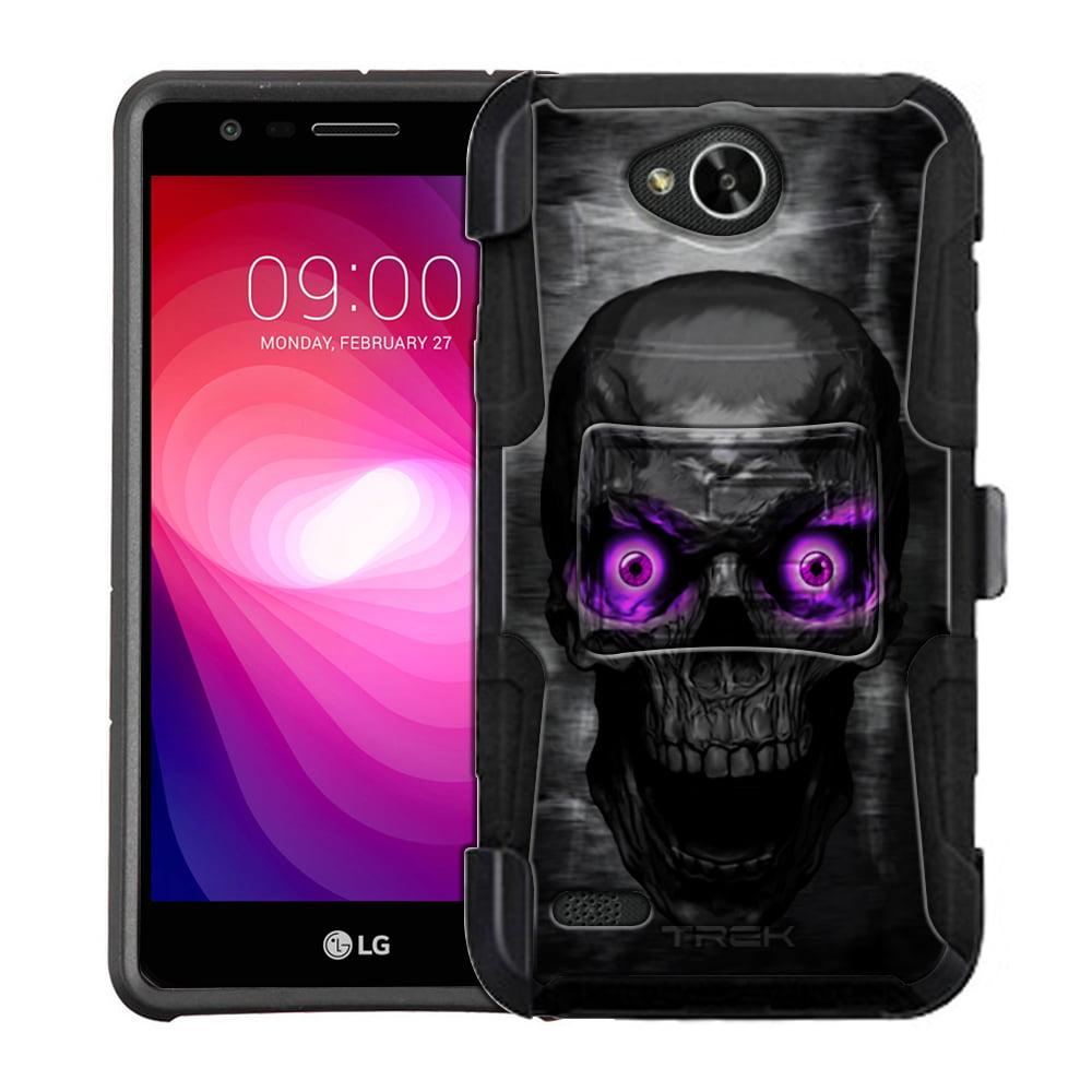 LG Fiesta Armor Hybrid Case - Skull Colored Eyes Purple