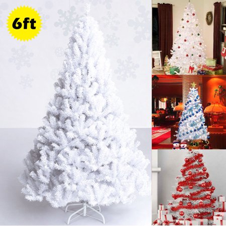 Costway 5Ft/6Ft/7Ft/8Ft Artificial PVC Christmas Tree W ...